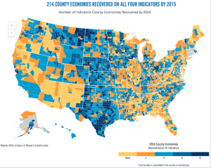 214 County Economies Recovered on all Four Indicators by 2015